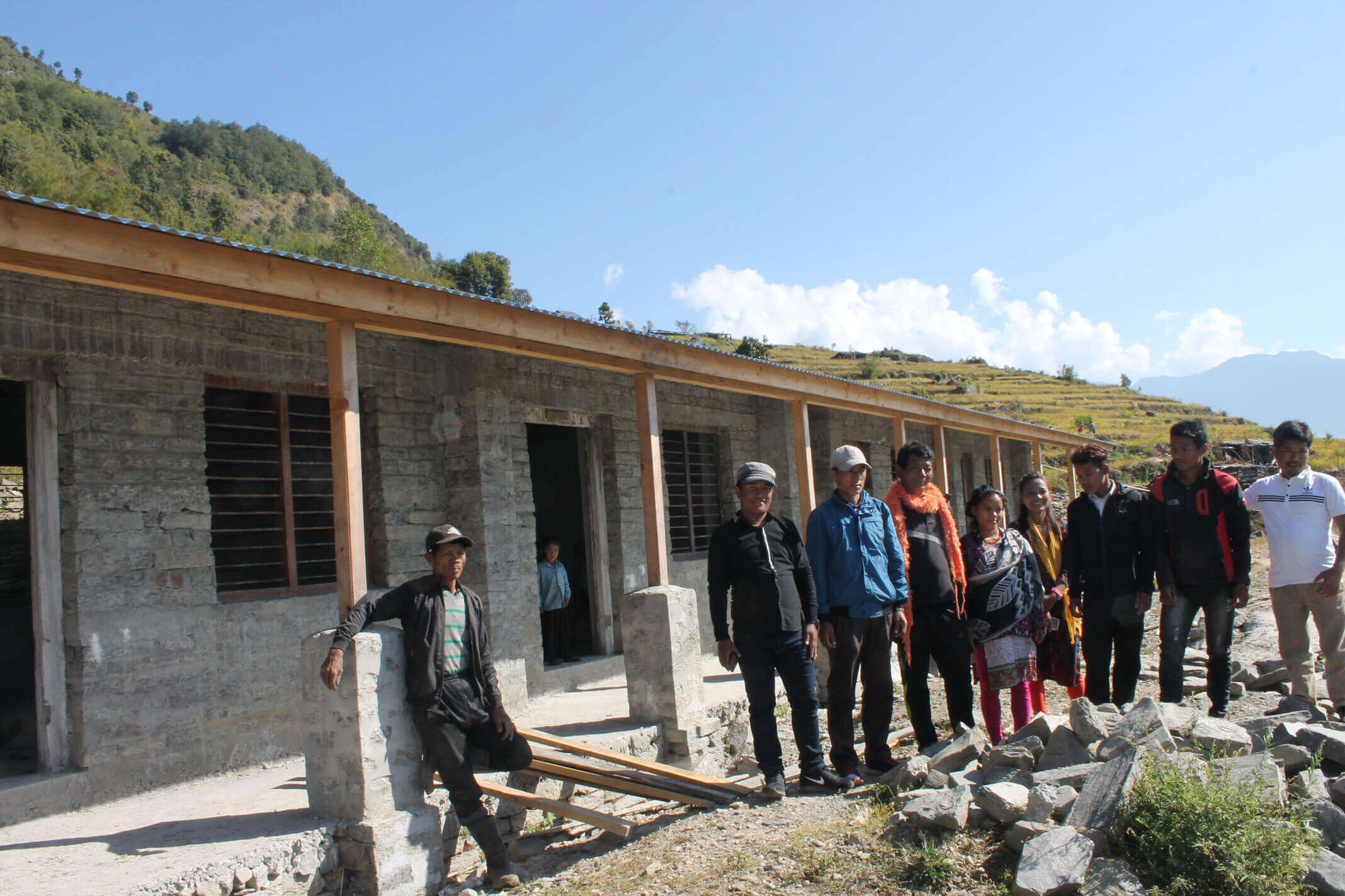 First phase: School rebuilding in Ladap