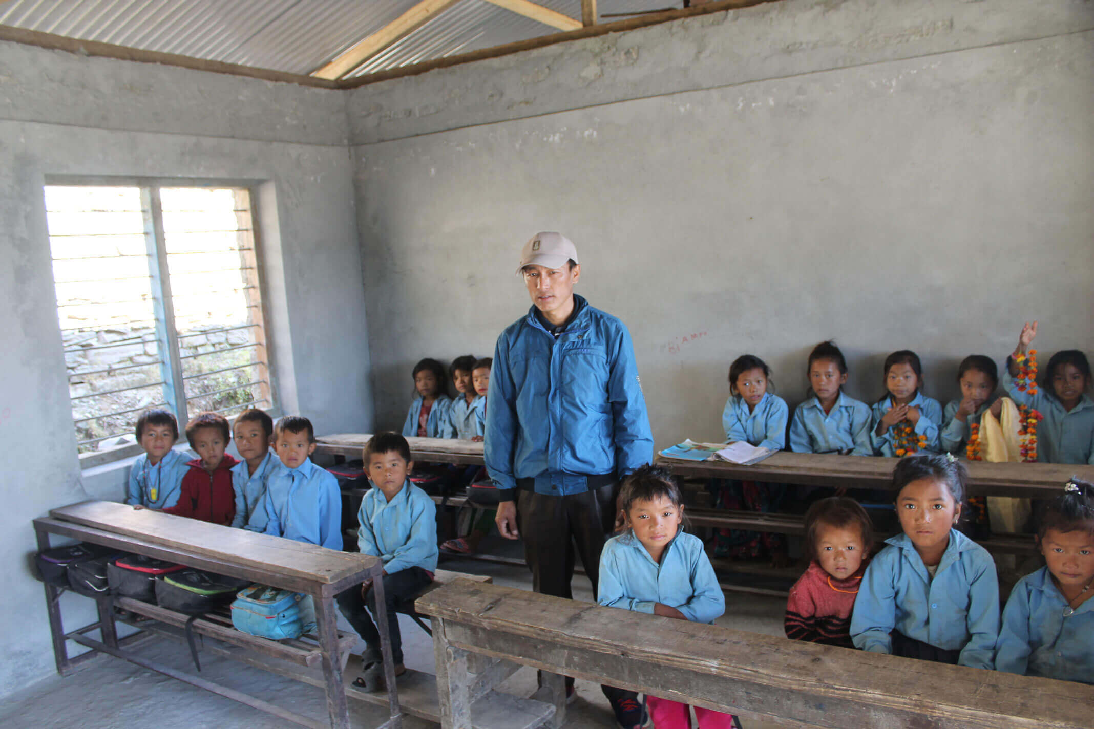 First phase: Look inside new classroom in the school